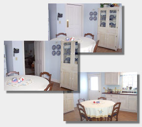 Kitchen We Serve Our Family Style Breakfast On Blue Willow Dishes Just Like  Aunt Bee Had. The Swinging Door Takes You Into The Living And Dining Areas,  ...